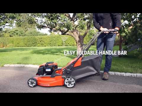 Getting started with a Husqvarna petrol lawn mower