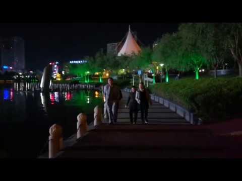 Chinese culture- Taizhou City Nightlife at Pozi Street (Jiangsu, China)