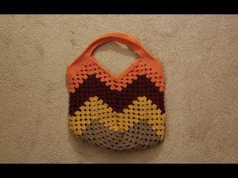 Part 1 – The Granny Stitch Bag Crochet Tutorial!