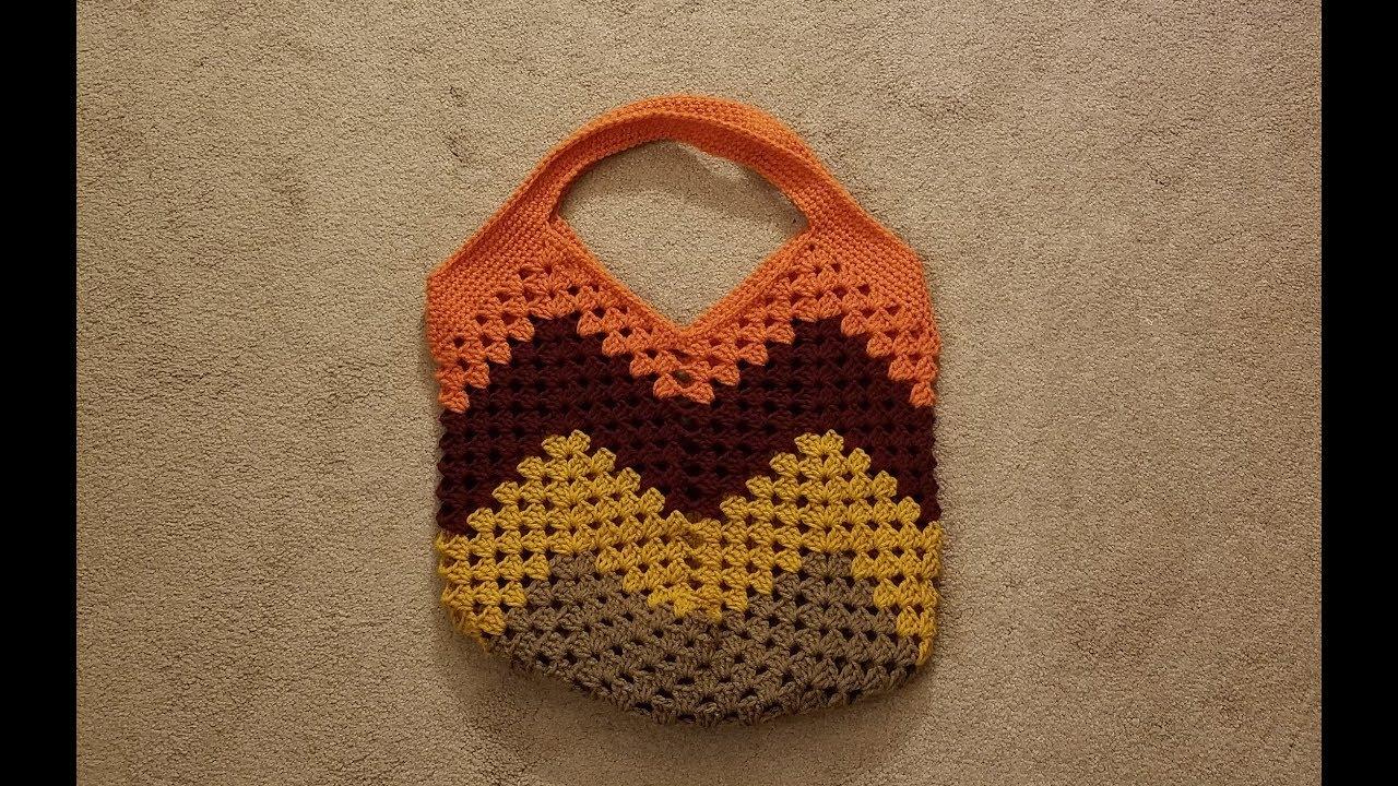 ace65e927441 Part 1 - The Granny Stitch Bag Crochet Tutorial! - YouTube