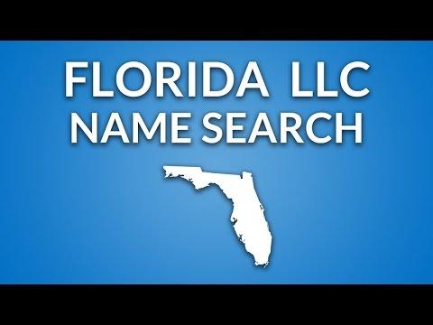 Florida LLC Name Search