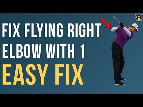 How to fix your flying right elbow golf swing with 1 simple change to your set up