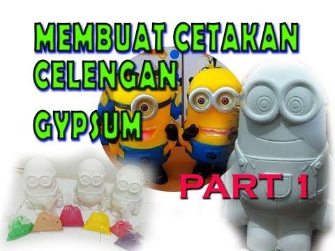 DIY MEMBUAT CETAKAN CELENGAN KARAKTER MINION PART 1