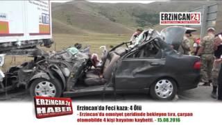 Erzincan da Katliam Gibi Kaza Aynı Aileden 4 Ölü