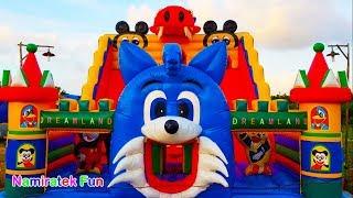 Istana Rumah Balon Besar Sekali Mainan Anak Perosotan Anak   Inflatable Slides Bounce Baloon House