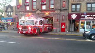 Fdny Engine 291 And Ladder 140 Go On A Run For Fire