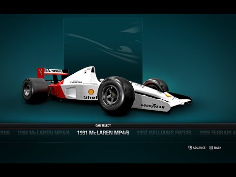 F1 2017 Gameplay - Classic Cars, 1991 McLaren MP4/6 - Malaysia Grand Prix