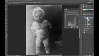 Быстрое восстановление (ретушь) старого фото в фотошопе. Фото 2