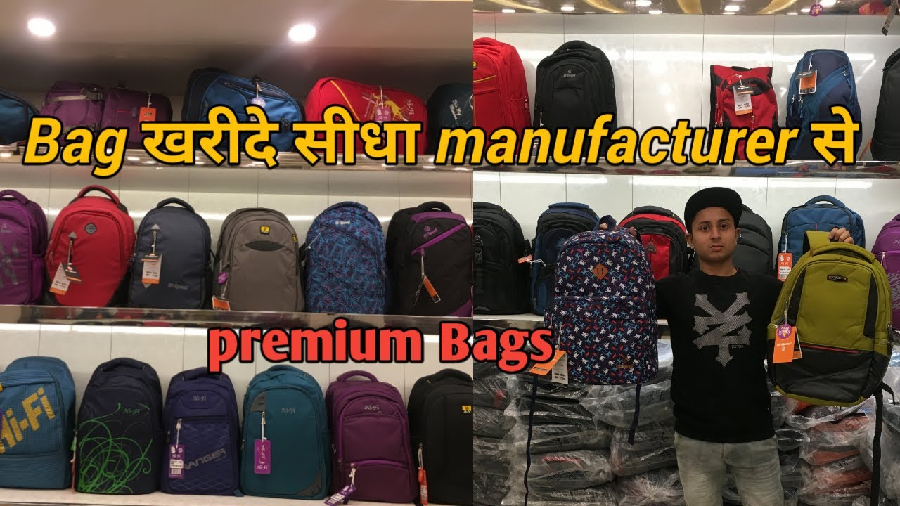 df334843e Cheapest branded bags wholesale retail azad market Delhi - YouTube