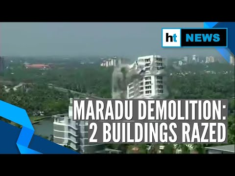 Watch L Maradu Demolition: Two Towers Razed With Controlled Explosion In Kochi