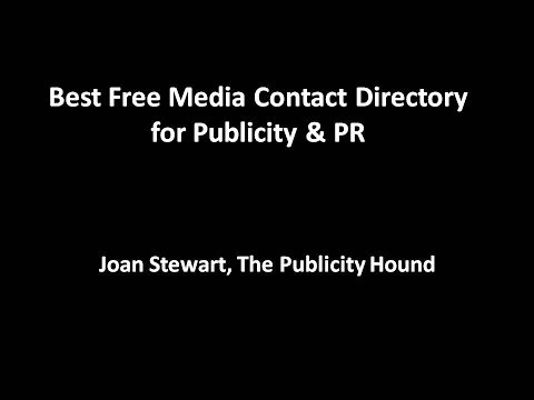 Best Free Media Contact Directory for Publicity & PR