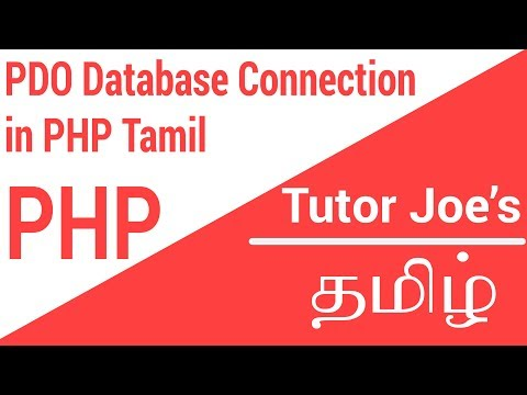 PHP Data Object Database Connection In MySQL Tamil