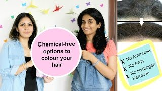 Natural, Chemical-free hair colour options to cover greys