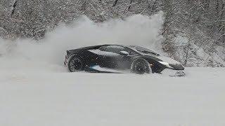 Driver does doughnuts in his $234,000 Lamborghini