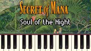 Soul of the Night - Secret of Mana [Synthesia]