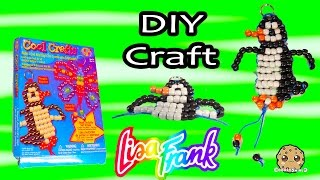 Do It Yourself Cool Crafts Lisa Frank Bead Penguin Animal Toy Unboxing Video Cookieswirlc