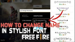 Download Free Fire Your Nickname Change Style Font Edit And