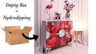 Diy Storage Using Empty Boxes & Hydro Dipping| Storage And Organization Idea 2019