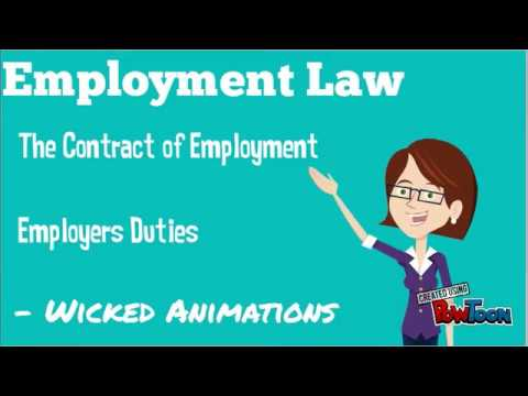 Employment Law - Contract of Employment - Employers Duties