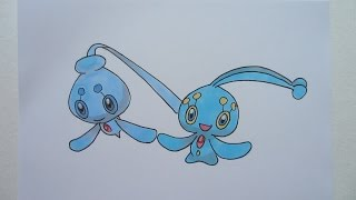 Drawing Pokemon: No. 489 Phione, No. 490 Manaphy
