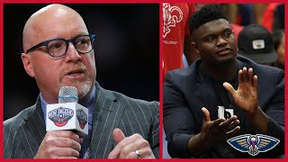 David Griffin Gives Zion Williamson Injury Update | New Orleans Pelicans