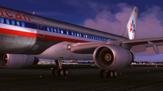 FS2004 - 757 American Airlines Landing at Chicago