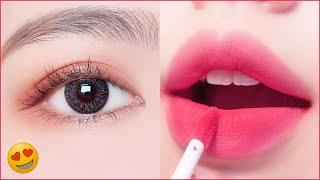 Замечательные уроки макияжа губ как корейские девушки Красивый макияж глаз Уловки красоты