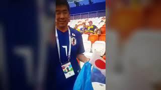 بالفيديو... جماهير مونديال روسيا تنظف المدرجات عقب المباريات