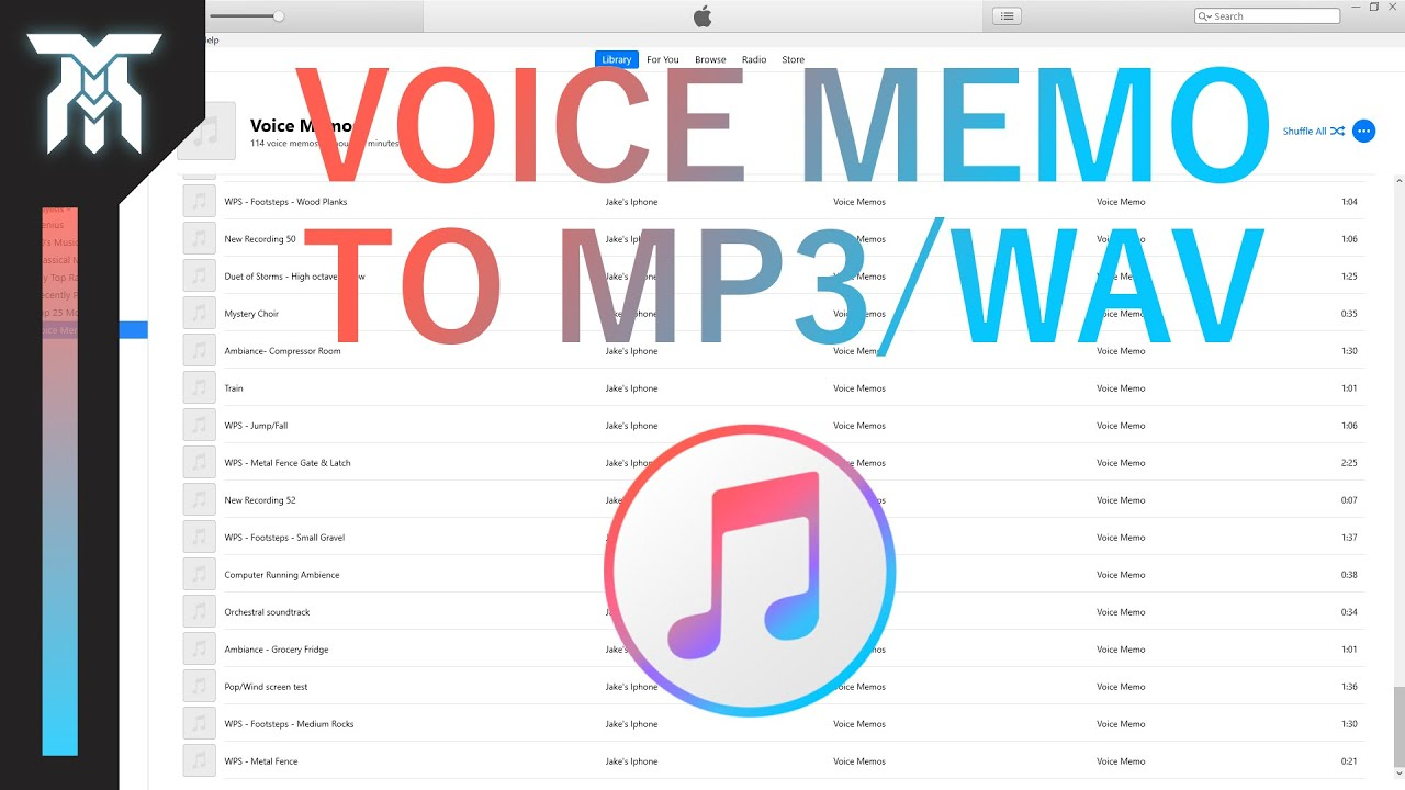 How To Convert Voice Memos To MP3 & WAV In iTunes