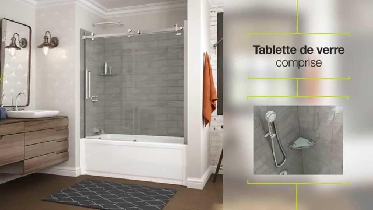 Utile par maax panneaux muraux pour douche youtube for Panneau revetement mural salle de bain