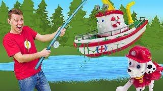 Видео для детей про игрушки Щенячий Патруль: Чистим бассейн Элаяса!