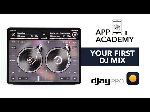 Your First DJ Mix On An IPad - Algoriddim DJAY Pro Tutorial 1/3