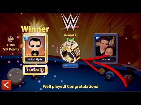 8 Ball Pool - WWE RING!! [30 Matches in 1 Video] 8 Ball Pool WWE Ring Gameplay (5M Coins)