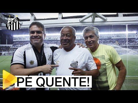 PÉ QUENTE! Jairzinho acompanha vitória do Santos sobre o Estudiantes