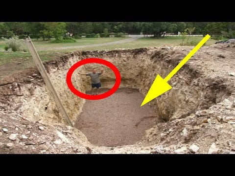 This Guy Dug A Huge Hole In His Backyard, What He Created Will AMAZE You!