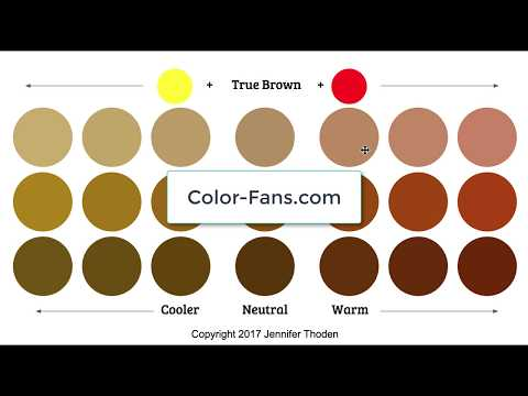 Jen Thoden 5 7k Subscribers Subscribe Color Theory Warm Brown Vs Cool