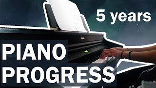 Teen/Adult Piano - 5 Year Progress