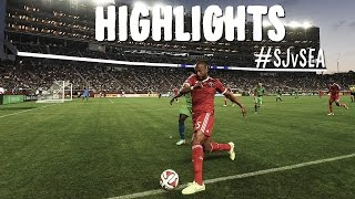 HIGHLIGHTS: San Jose Earthquakes vs Seattle Sounders | August 2, 2014