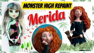 MAKING PRINCESS MERIDA DOLL - DISNEY BRAVE MONSTER HIGH REPA...