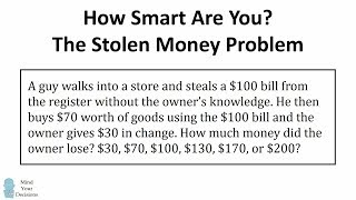 The Stolen Bill Riddle (Viral Math Problem) - The Correct Answer Explained