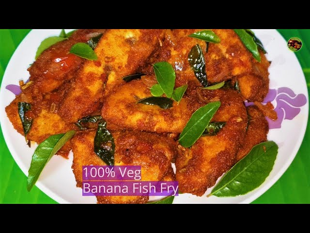 Chettinad Banana Fish Fry Masala/Vazhaikkai Meen Varuval /செட்டிநாடு வாழைக்காய் சைவமீன் மசாலா&வறுவல்