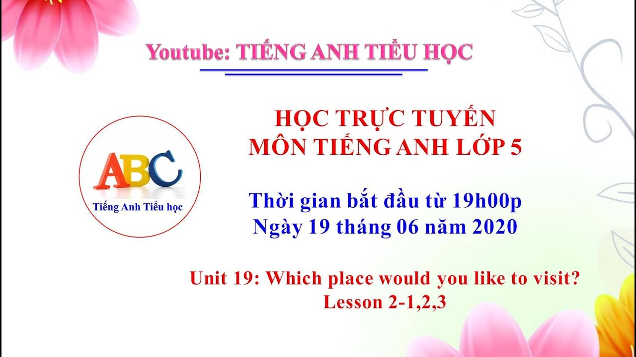 Tiếng anh lớp 5: Unit 19: Which place would you like to visit? Lesson 2-1,2,3