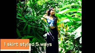 1 SKIRT STYLED 5 WAYS - Minimalist wardrobe styling  by Sparsha Deshpande
