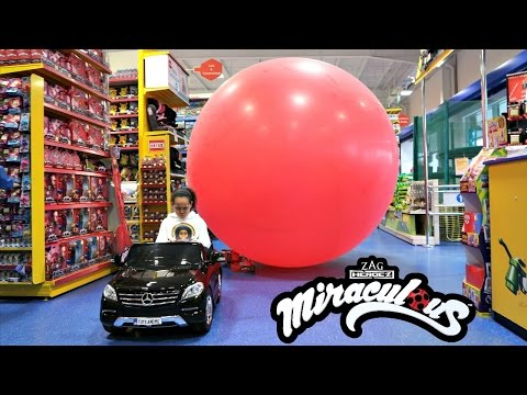 Thumbnail: Bad Kids Driving Power Wheels Ride On Car - Giant Miraculous Balloon Stuck In Smyths Toys