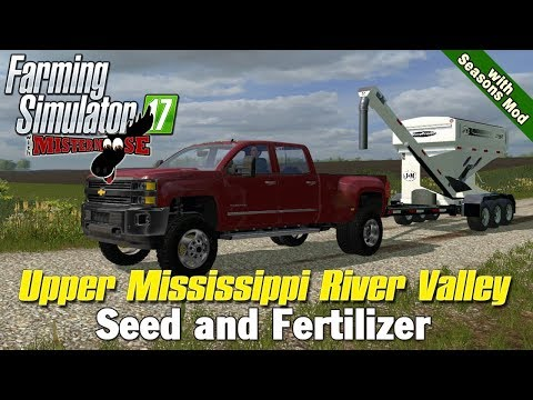 Farming Simulator 17 | Stocking up on Seed and Fert | Upper Mississippi River Valley