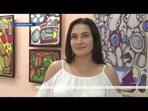 Телеканал TV5: В Бердянську відкрилась виставка «Космос Емми Андієвської»