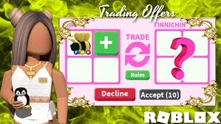 What People TRADE For Neon KING BEE Roblox Adopt Me