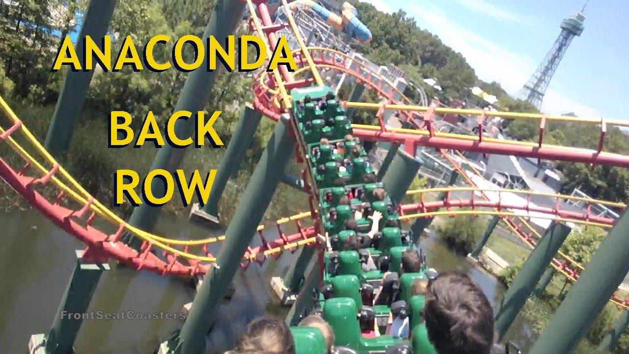 Anaconda Pivothead Pov Kings Dominion Roller Coaster Back Seat On Ride Arrow Dynamics Steel Virginia Youtube
