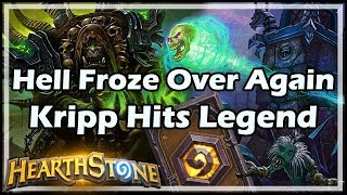 [Hearthstone] Hell Froze Over Again, Kripp Hits Legend