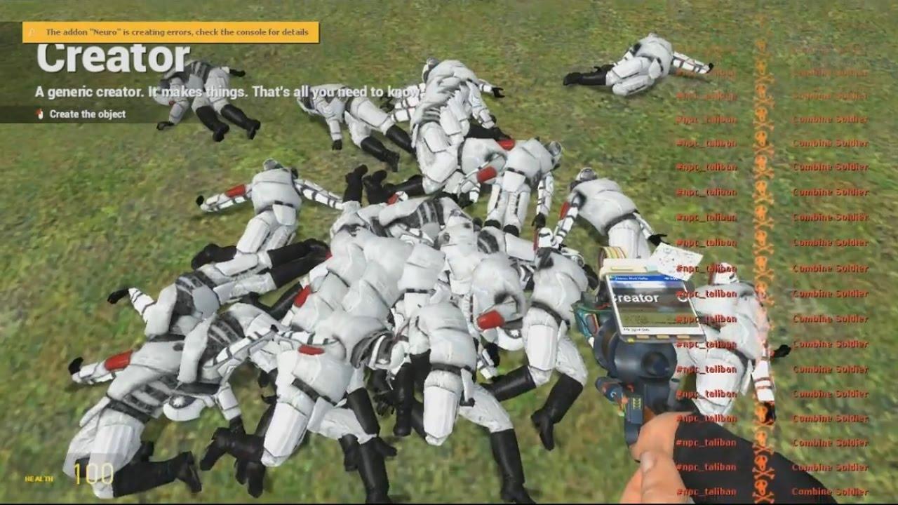 Gmod: Terrorist mod GLITCH!!! (Ragdolls and body parts flying, DEATH,  Etc   )
